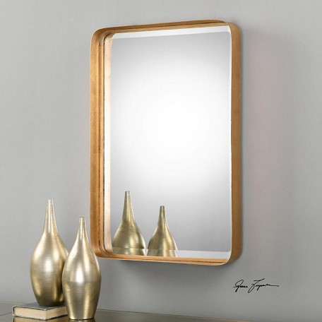 Uttermost Antiqued Gold Leaf Crofton Rectangular Mirror Designed By Grace Feyock