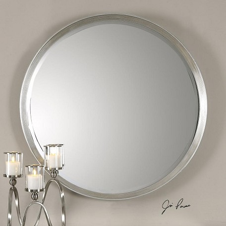 Uttermost Silver Leaf Serenza Circular Mirror Designed By Jim Parsons