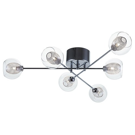 Nuevo Clear Ceiling Mount Estelle 6 Ceiling Lamp