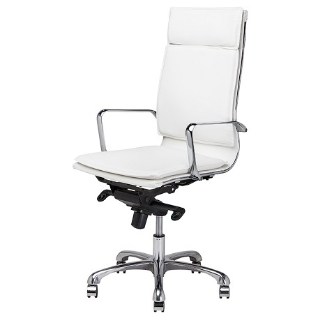 Nuevo White High-Back Armchair Carlo Office Chair