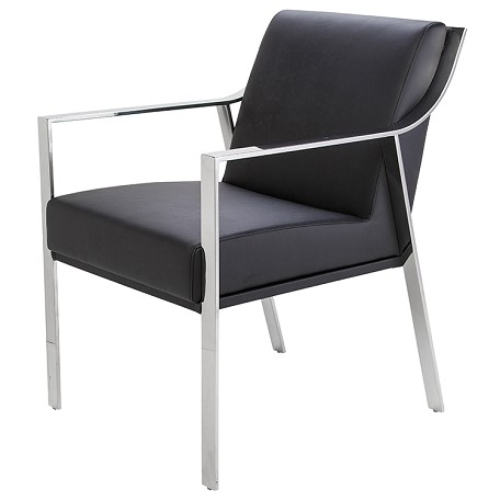 Nuevo Black Valentine Dining Chair