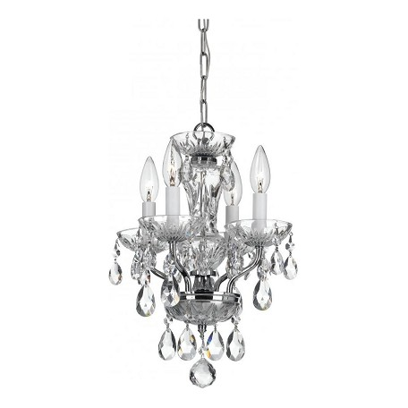 Crystorama 4 Light Chrome Mini Chandelier