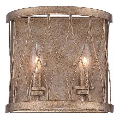 Minka-Lavery West Liberty 2 Light Wall Sconce Olympus Gold 5402-581 ...