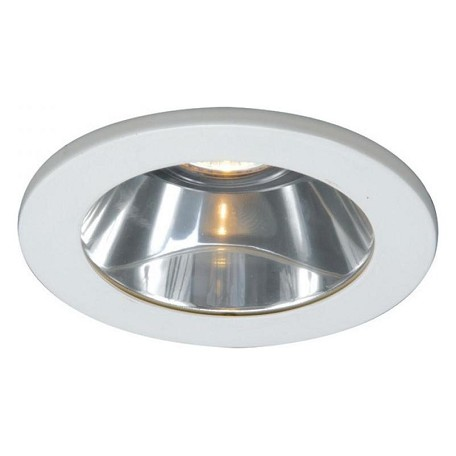 Wac us white 4 low voltage recessed light reflector trim for Number of recessed lights per room