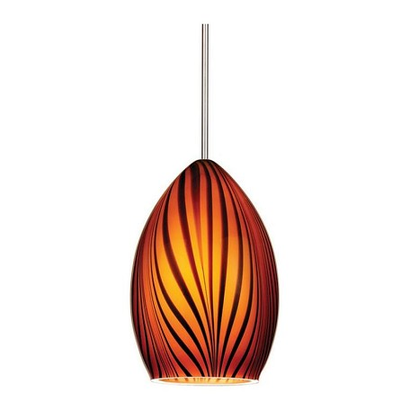 WAC US Aurora Monopoint Pendant - Amber Shade With Dark Bronze Socket Set, Canopy Inclu