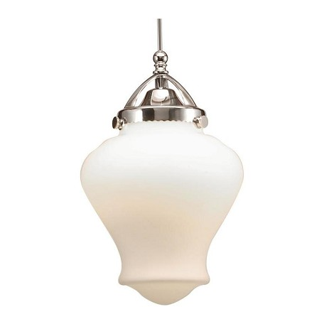 WAC US Sheffield Led Monopoint Pendant - White Shade With Chrome Socket Set, Canopy Inc
