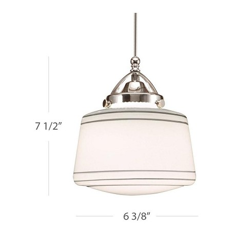WAC US Plymouth Quick Connect Led Pendant - Silver Shade With Brushed Nickel Socket Set