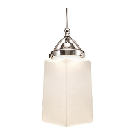 WAC US Huntington Led Monopoint Pendant - White Shade With Chrome Socket Set, Canopy In