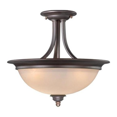 Vaxcel International Avalon 15In. Semi-Flush Ceiling Light