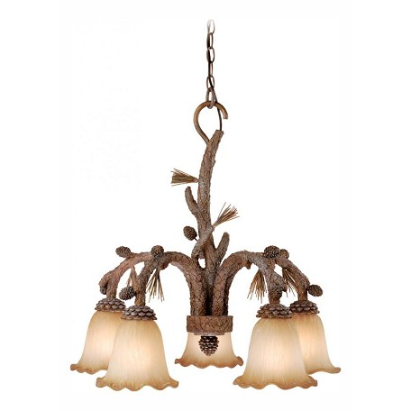 Vaxcel International Aspen 5L Chandelier Finish