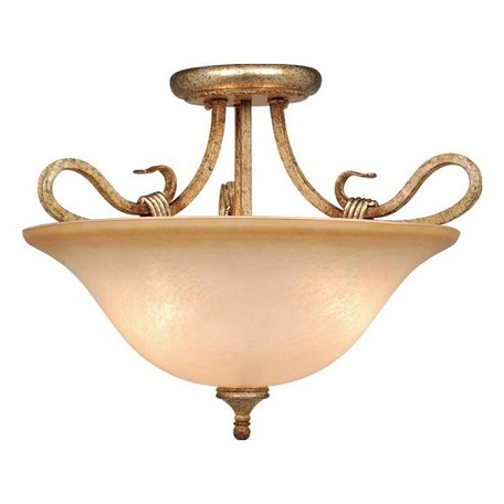 Vaxcel International Berkeley Semi Flush Ceiling Light