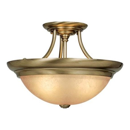 Vaxcel International 15In. Semi-Flush Celing Light