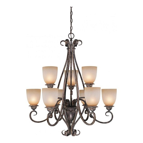 Vaxcel International Mont Blanc 9 Light Chandelier