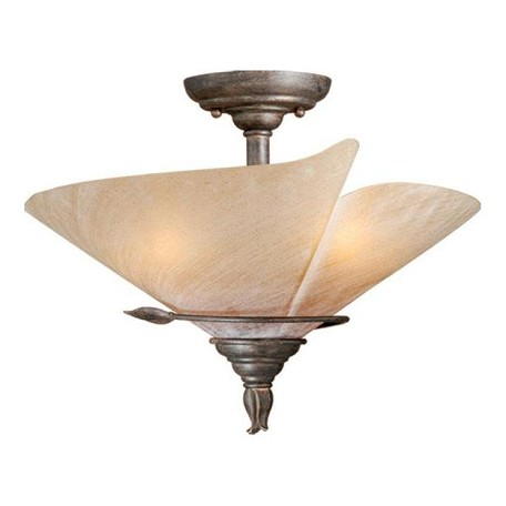 Vaxcel International Capri 15In. Semi Flush Ceiling Light