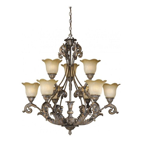 Vaxcel International Monte Carlo 9L Chandelier