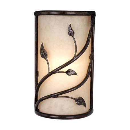 Vaxcel International Vine Wall Sconce W/ Amber Flake Glass
