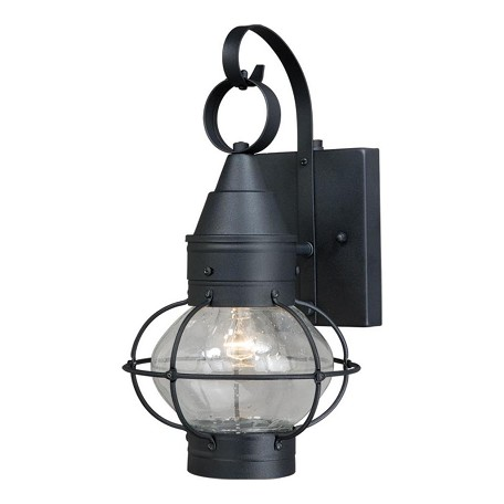 Vaxcel International Chatham 7 In. Outdoor Wall Light Textured Black
