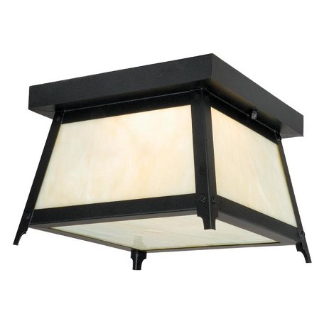 Vaxcel International Prairieview 9In. Outdoor Ceiling Light