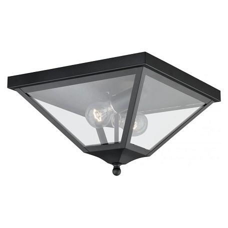 Vaxcel International Nottingham 13In. Outdoor Flush Mount