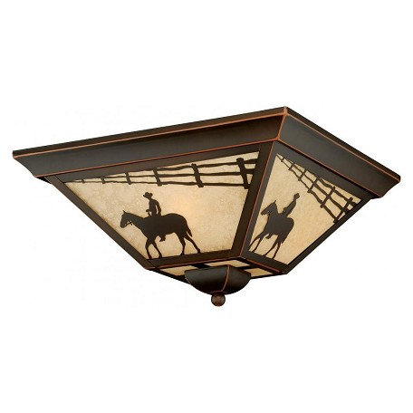 Vaxcel International Trail 14In. Outdoor Flush Mount