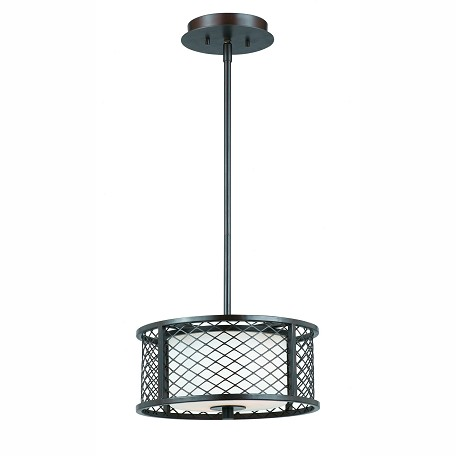 Lumenno Int Dublin Collection 2 Light Pendant In A Bronze Finish