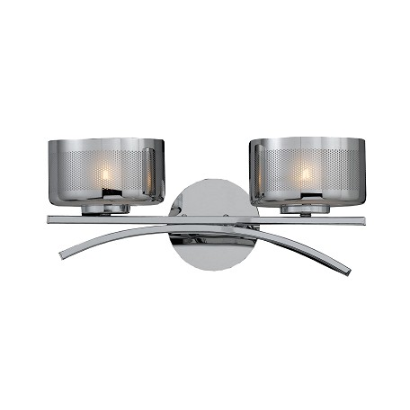 Lumenno Int Bodorlo Collection 2 Light Xenon Bath Vanity In A Chrome Finish Chrome Plated Finish ...
