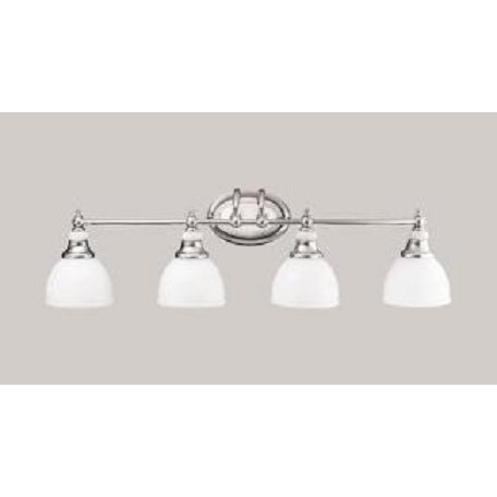 Kichler Chrome Pocelona 33in Wide 4 Bulb Bathroom Lighting Fixture Chrome 5370ch From Pocelona