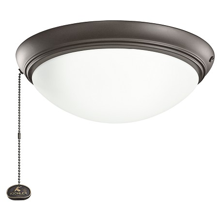 Kichler Low Profile Led Fixture Satin Natural Bronze 338200snb From Accessory Collection