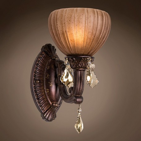 Aged Bronze Wall Sconces : Joshua Marshal 700793-002 Monaco 1 Light 7