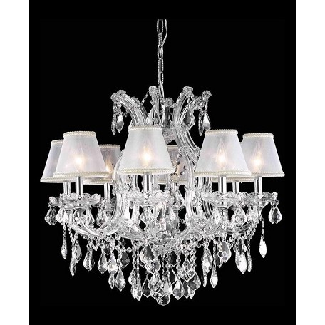 Elegant dining room chandelier silver silver 2800d26c sh for Elegant chandeliers dining room