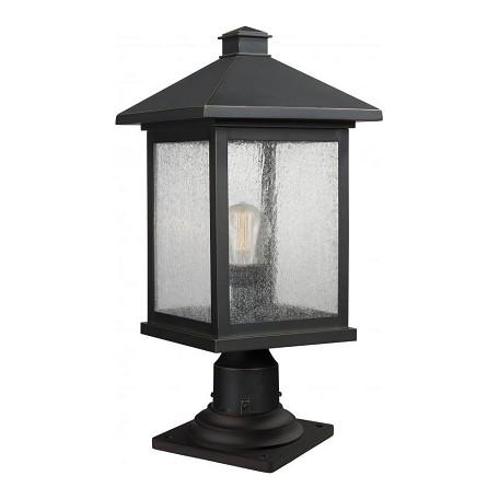 Z Lite 1 Light Outdoor Pier Mount Light Bronze 531phbr