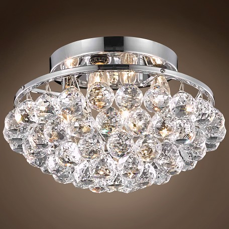 "JM 4 & 6 Corner Design 4 Light 14"" Flush Mount"