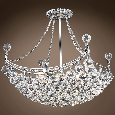 "JM 4 & 6 Corner Design 8 Light 20"" Chandelier"