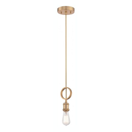 Nuvo Paxton - 1 Light Mini Pendant - Includes 40W A19 Vintage Lamp
