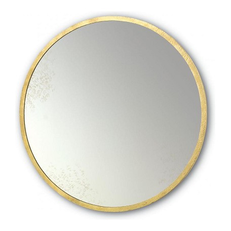 Currey Gold Leaf Aline 42in High Wall Hung Antique Round