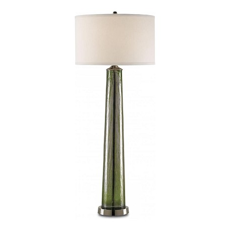 Currey Green Nickel Cassandra 1 Light Table Lamp With