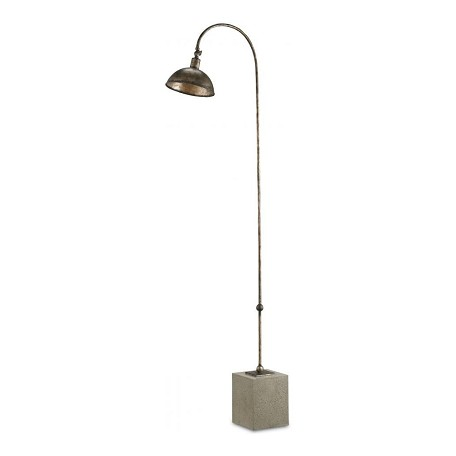 Currey Dirty Silver Finstock 1 Light 65in. High Floor Lamp