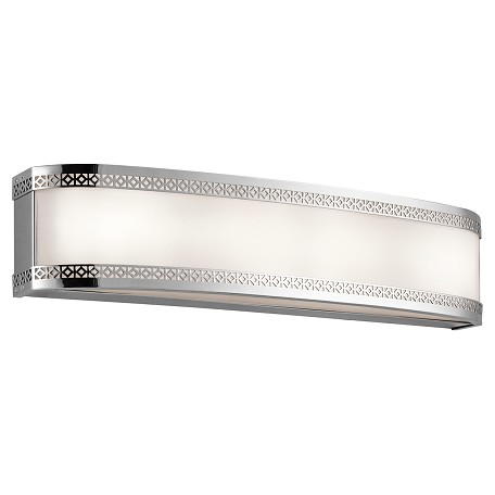 Kichler Chrome Contessa Led Bathroom Vanity Light Chrome 45853CHLED From Contessa Collection