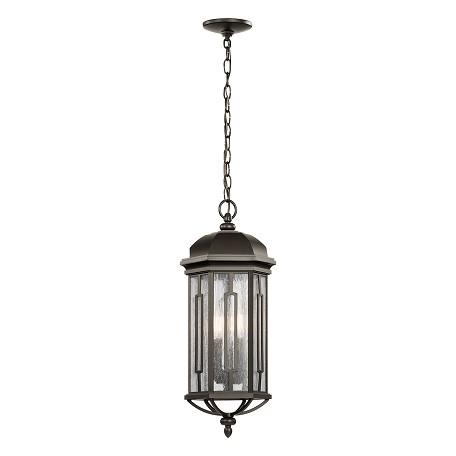 Kichler Olde Bronze Galemore 3 Light Outdoor Pendant
