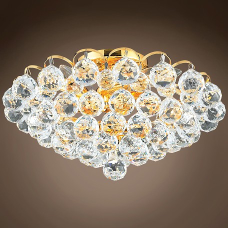 "JM Atlantis Design 4 Light 14"" Flush Mount"