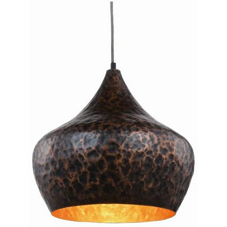 Urban Classic Seville Collection Pendant Lamp D:15In. H:15In. Lt:1 Vintage Copper Finish