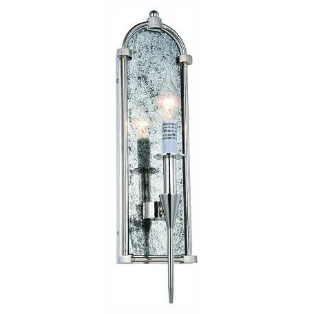 Urban Classic Bavaria Collection Wall Sconce W:5In. H:19In. E:5In. Lt:1 Polished Nickel
