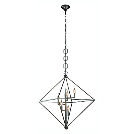 Urban Classic Nora  Collection Pendant Lamp D:30In. H:32In. Lt:5 Aged Iron Finish