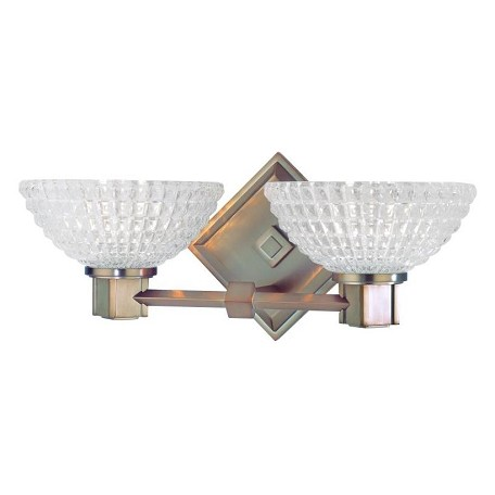 Hudson Valley Brushed Bronze Buchanan 2 Light Width Xenon Bathroom Fixture Brushed Bronze