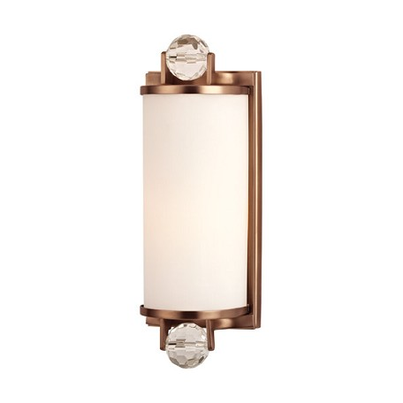Hudson valley brushed bronze prescott 1 light bathroom - Brushed bronze bathroom light fixtures ...
