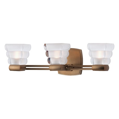 Hudson valley brushed bronze warren 3 light xenon bathroom - Brushed bronze bathroom light fixtures ...