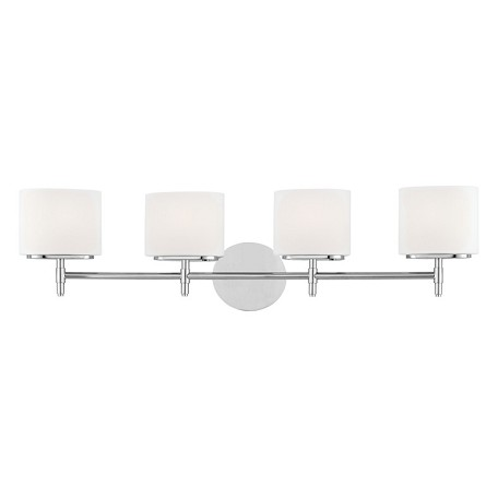 Hudson Valley Polished Chrome Trinity 4 Light Bathroom Vanity Fixture Polished Chrome 8904 Pc