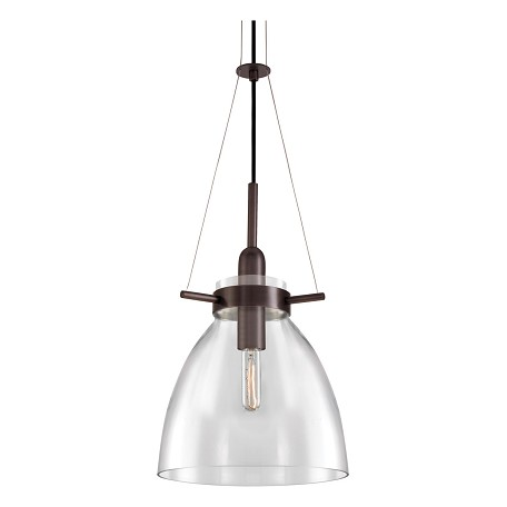 Sonneman Pendant Light RUBBED BRONZE