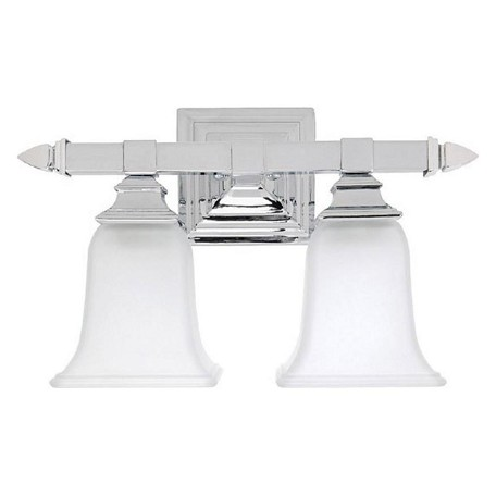 Capital Chrome 2 Light Bathroom Vanity Fixture Chrome 1062CH-142 From Capital Vanities Collection