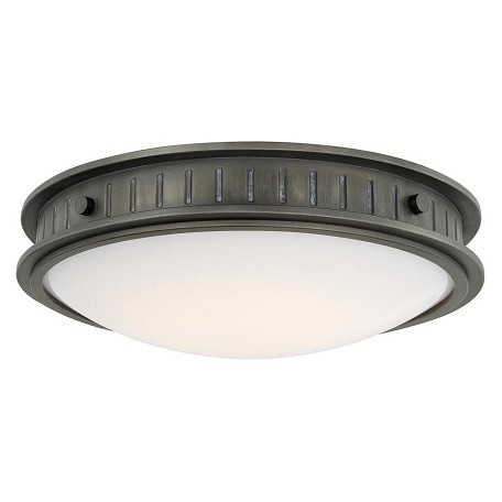 Capital Gunmetal Nash 1 Light LED Flush Mount Ceiling Fixture